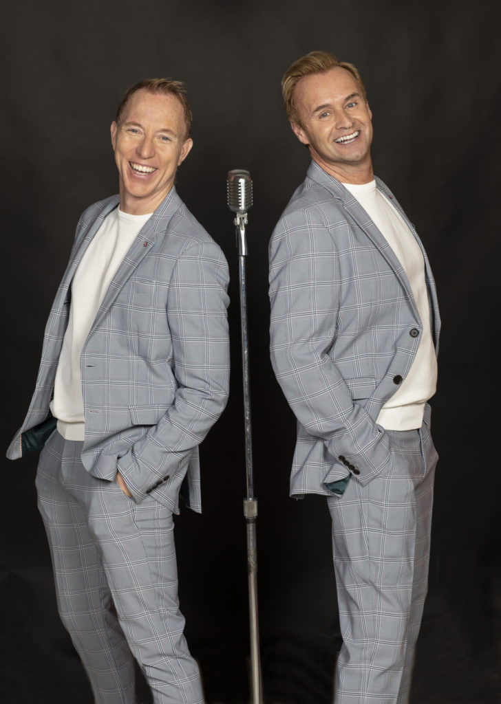 Brent D Kuenning and Steve Geyer promotional photo Classic Crooner Mic 2 of a Kind #backtobackwithmic