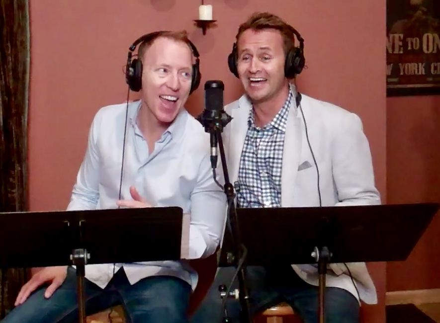 Brent D Kuenning and Steve Geyer promotional photo sitting American Song Book 2 of a Kind #sittinginthemusic
